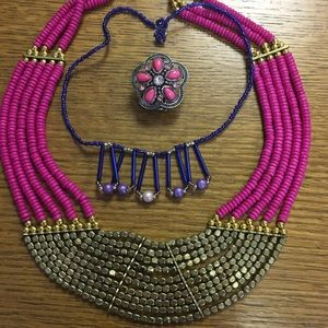 Jewelry - Pink and Blue Jewelry Set (3 piece)